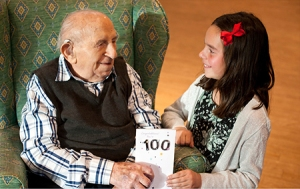 Philip Rochman celebrates his 100th birthday